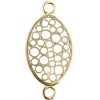 Brass Connector Oval Filligree 16x11mm